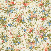 Belle Epoque - Medium Floral Green Yardage
