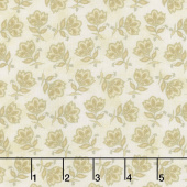 Harvest Berry - Tossed Jacobean Flower Cream Yardage