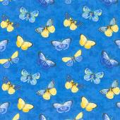 Madison - Butterflies Blue Yardage