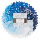 Artisan Batiks - Snowflakes 2 Metallic Charm Pack