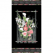 Magnificent Blooms - Black Multi Panel