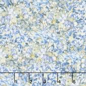 Hydrangea Dreams - Packed Hydrangeas Blue Yardage