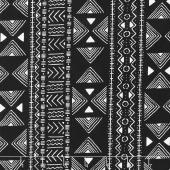 Kinfolk - Mud Cloth Stripe Black Yardage