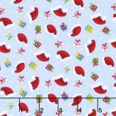 Santa's Little Helpers - Hats & Gifts Blue Yardage