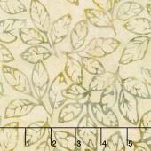 Artisan Batiks - Cornucopia 8 Leaf Sprigs Straw Yardage