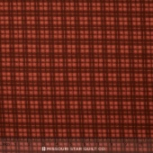 Woolies II Flannel - Plaid Red Orange Yardage