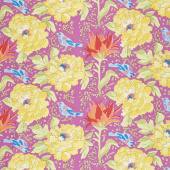Color Fusion - Birds of Paradise Violet Yardage