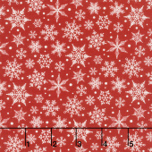 Christmas Traditions - Snowflakes Red Yardage
