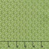 Emma's Garden - Dimensional Geo Green Yardage