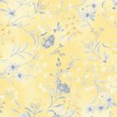 Limoncello - Garden Yellow Pearlized Yardage