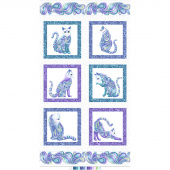 Cat-i-tude - Singing the Blues White Pearlized Panel