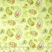 Rainbow Seeds - Paisley Green Yardage