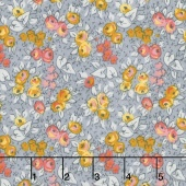 Linen and Lawn - Floral Gray Cotton Lawn Yardage