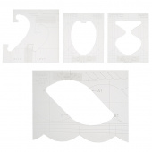 Border Sampler 5 Piece Template Set - Low Shank