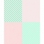A Little Sweetness - Mint Fat Quarter Panel