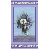 Dreaming of Tuscany - Blooming Vase Purple Digitally Printed Panel