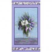 Dreaming of Tuscany - Blooming Vase Purple Digitally Printed Panel