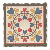 Barn Quilts Coaster - Folk Hearts & Flowers