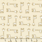 Penned Pals - Pink Colorstory Giraffes Tan Yardage