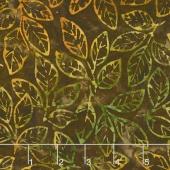 Artisan Batiks - Cornucopia 8 Leaf Sprigs Nature Yardage