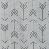 "Cuddle Embossed Arrow - Graphite 60"" Minky Yardage"