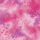 Laurel Burch Basics - Swirl Star Triangle Light Raspberry Yardage