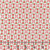 Sugar Sack - Gingham Floral Red Yardage