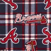 MLB Fleece - Atlanta Braves Blue/Red Yardage