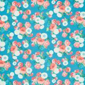 Midsummer Meadow - Wild Bouquet Teal Yardage