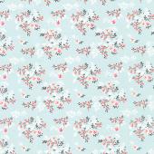 Ava Kate - Floral Vines Seafoam Yardage
