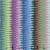 Kaffe Fassett Collective Fall 2018 - Night Diamond Stripe Dark Yardage