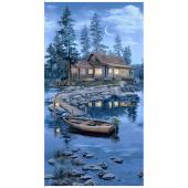 Lakeside Cabin -  Lodge Cabin Blue Panel