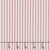 Mon Beau Jardin - Stripe Pink Yardage