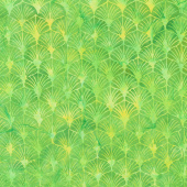 Lemon Grass Batiks - Gatsby Fans Lemon Lime Yardage