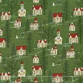 Winter Village - Winter Village Spruce Yardage