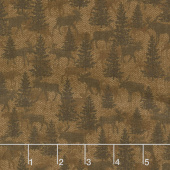 Another Moose Is Loose - Moose Twill Crossing Mocha Yardage