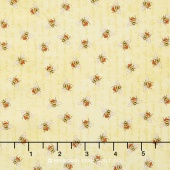 From the Garden - Bees Allover Yellow Yardage