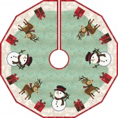 Frosty Christmas Tree Skirt Kit