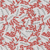 Merriment - Holly Berries Gray Yardage