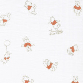 Cotton Muslin Double Gauze - Pooh Bear Multi Yardage