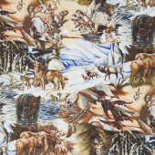 North American Wildlife - Scenic Nature Digitally Printed Yardage