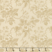 Cinnaberry - Winter Blooms Almond Yardage