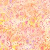 Artisan Batiks Hummingbird Lane - Flowers Peach Yardage
