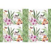 Orchids in Bloom - Placemats White Multi Canvas Panel