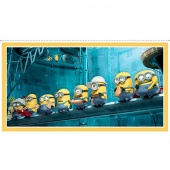 Despicable Me - Millions of Minions Minions In A Row Yellow Digitally Printed Panel