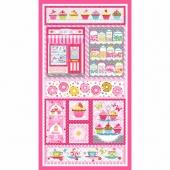 Cupcake Cafe - Pink Panel