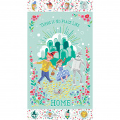 Dorothy's Journey - Dorothy's Home Mint with Silver Sparkle Panel