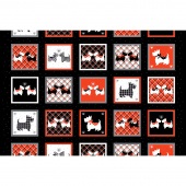 Dotty for Scottie - Scottie Boxes Black Panel