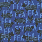 FFA Forever Blue - FFA Meat Cuts Blue Yardage