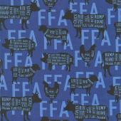 FFA Forever Blue - FFA Meat Cuts Blue Yardage